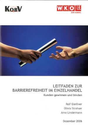 Titelbild der Broschüre der Wirtschaftskammer 'Barrierefreiheit im Einzelhandel' - Link zu mehr Informationen